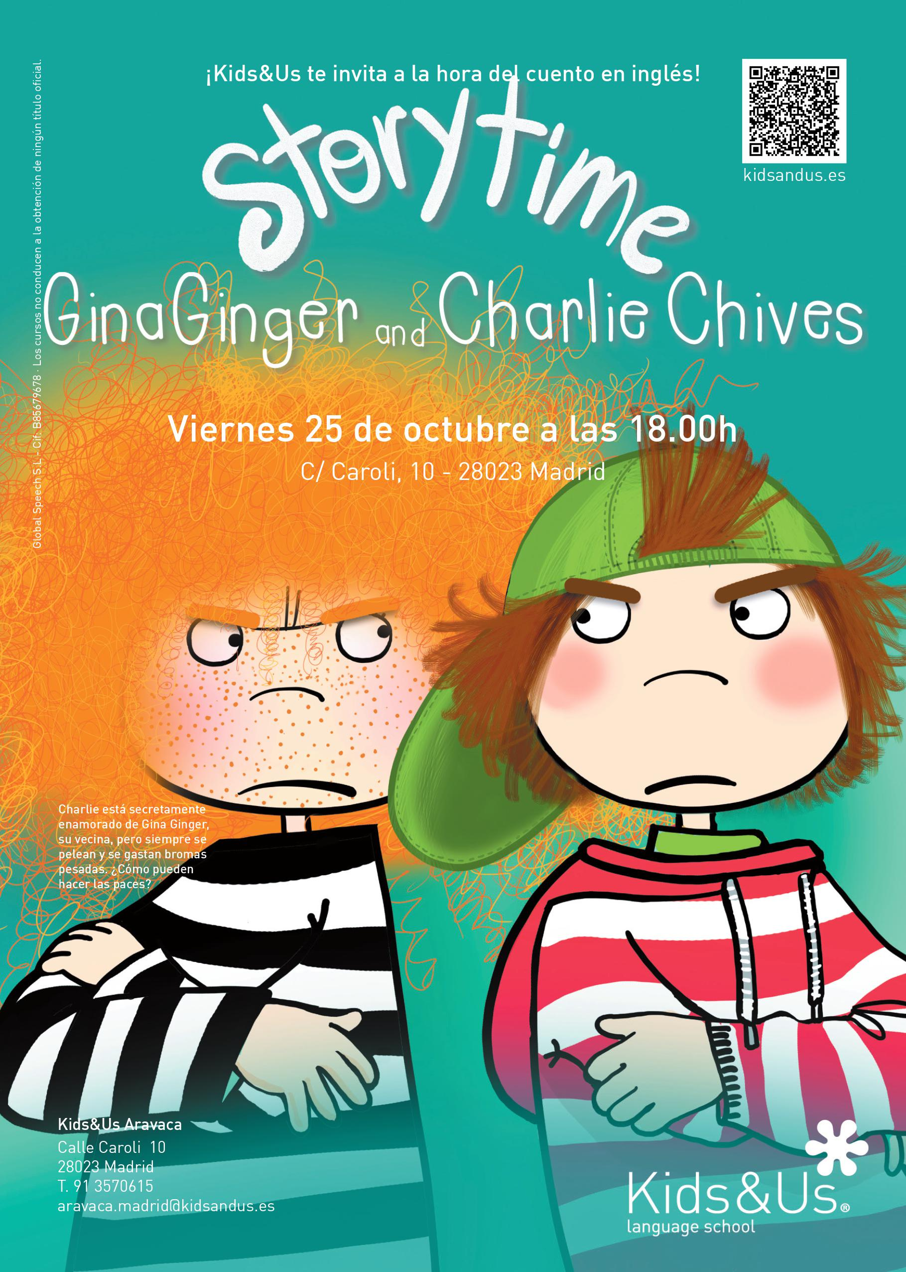 Storytime Kids: Gina Ginger and Charlie Chives